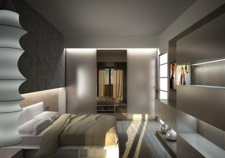 Render fotorealistico di una camera da letto