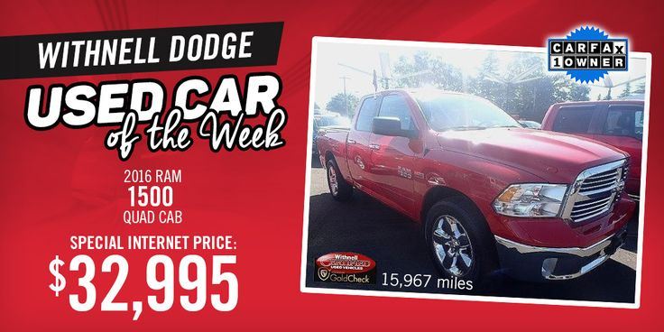 Interested in a used truck? You don't want to miss our Used Car of the Week, this 2016 Ram 1500 Quad Cab, at a special internet price! View more online, or come see it at our dealership in Salem, Oregon.