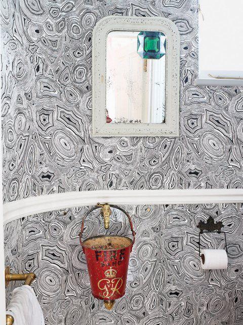Fornasetti bathroom wallpaper