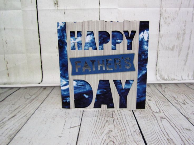 Individualistic one of a kind fathers day card.  Free postage