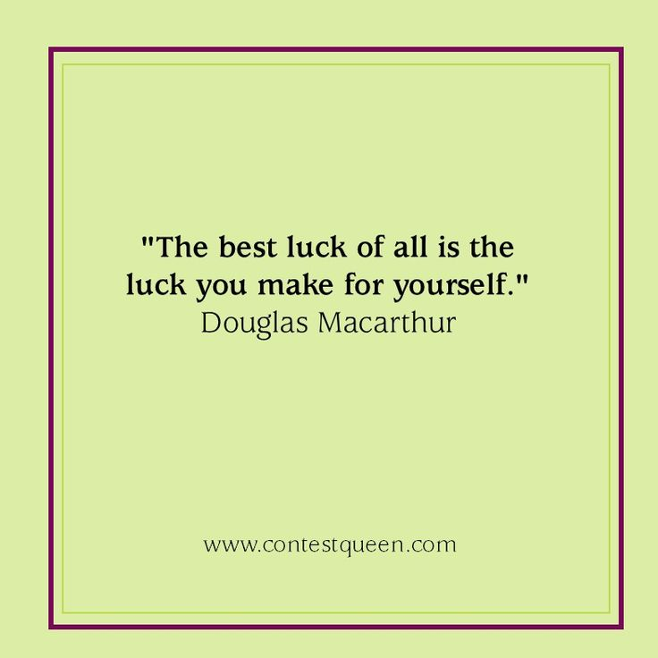 #LuckyQuote