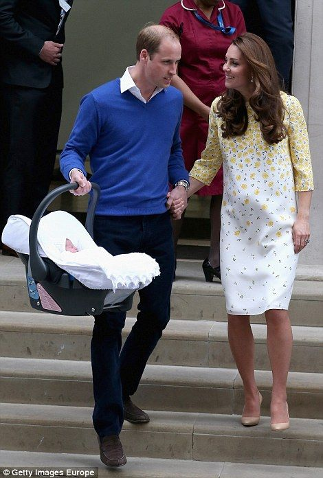 The Duke and Duchess of Cambridge held hands tightly as they walked towards their car carr...