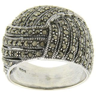 Shop for Dolce Giavonna Sterling Silver Marcasite Ring and more for everyday discount prices at Overstock.com - Your Online Jewelry Store!