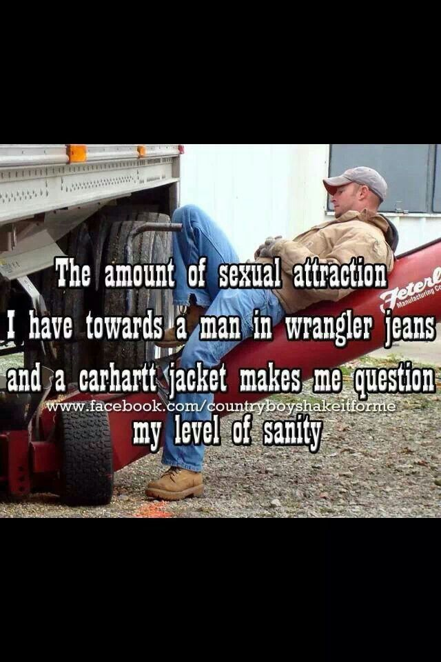 Man in wrangler jeans and carhartt jacket - Lol This used to be true