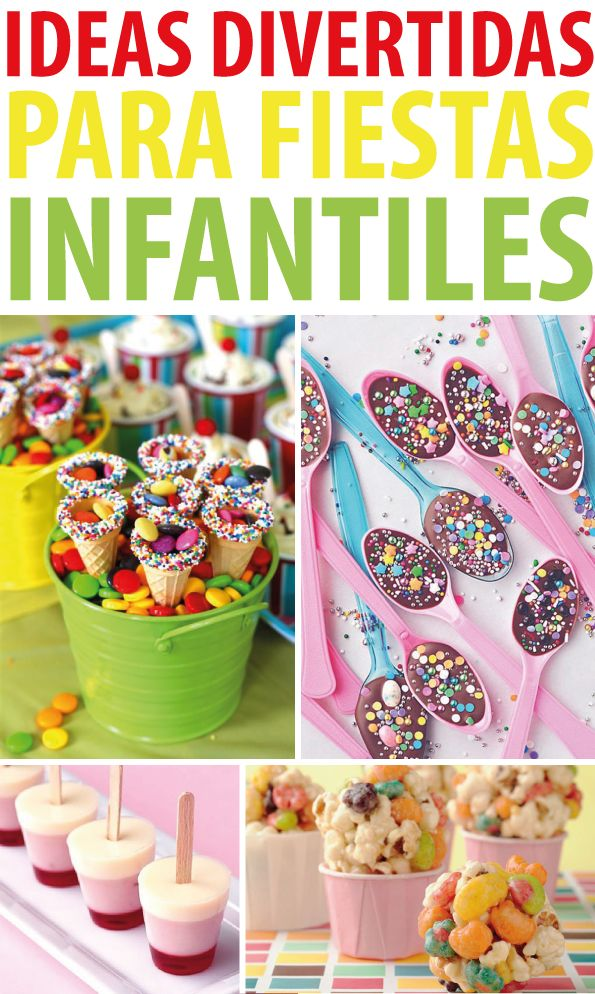 Ideas divertidas para fiestas infantiles en 2019 party fiestas comida para cumplea os - Cumpleanos infantiles comida ...