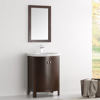 Shop for Fresca Greenwich Brown Wood/Veneer 24-inch Antique Traditional Bathroom Vanity. Get free delivery at Overstock.com - Your Online Home Improvement Outlet Store! Get 5% in rewards with Club O!