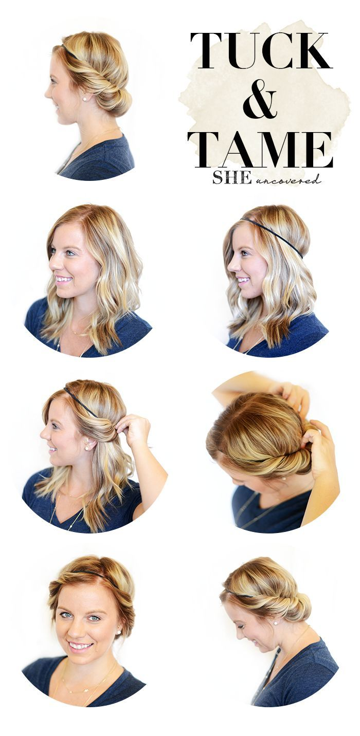 5 Minute Hairstyle: Tuck and Tame