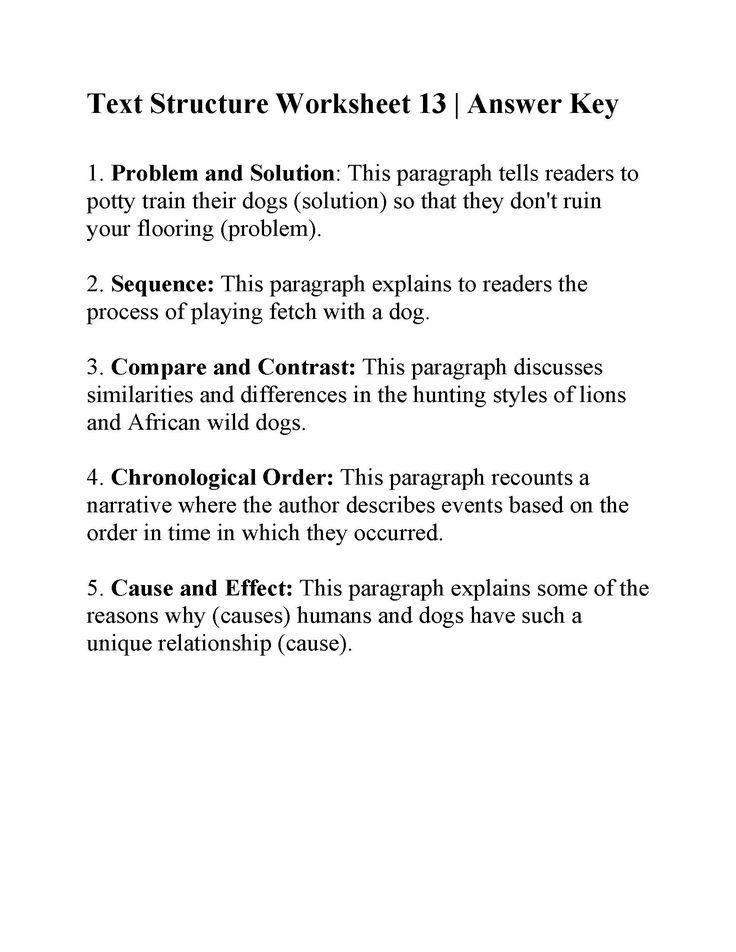 Text Structure Worksheets Text structure worksheets 4th grade