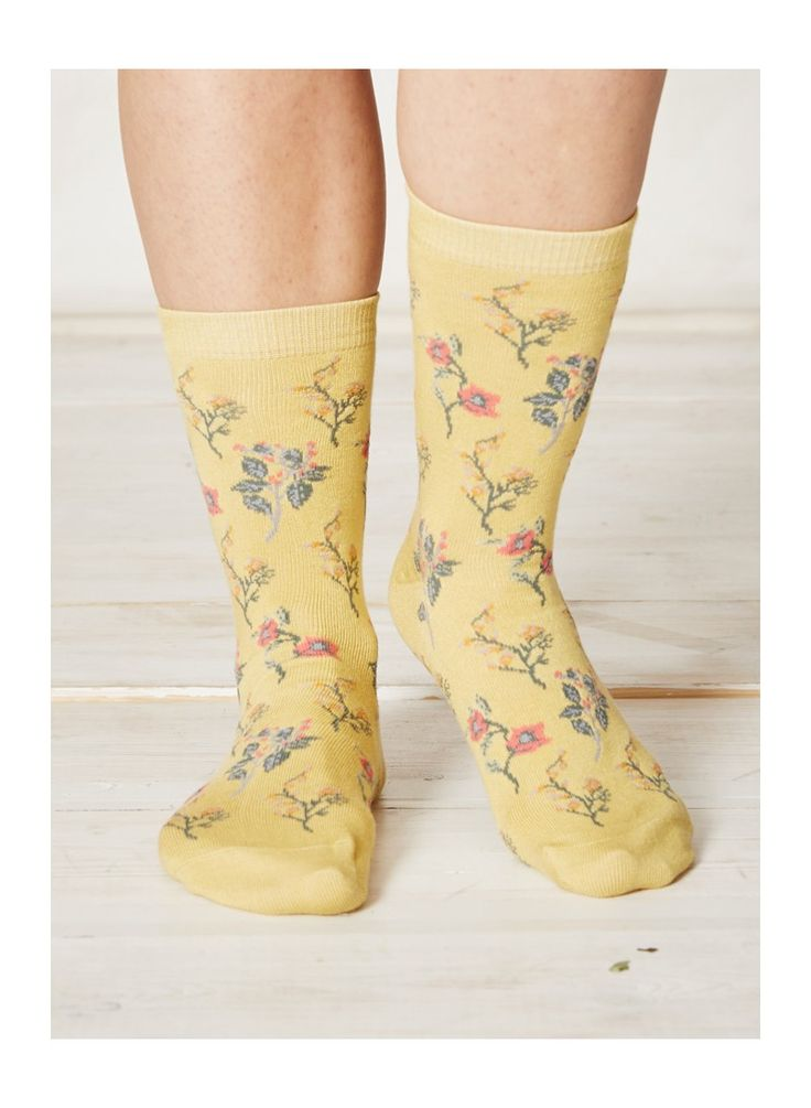 Sunshine floral bamboo socks from Briantree
