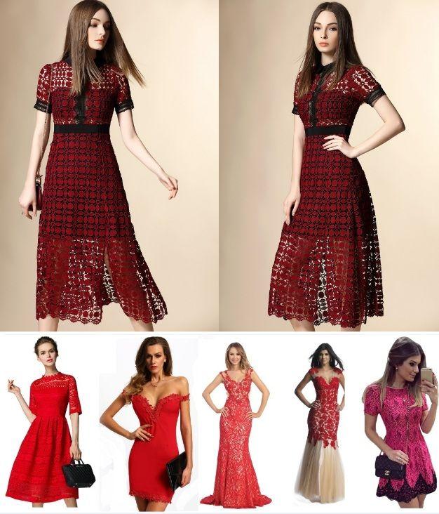 Модные кружевные платья 2017-2018 (фото). С чем носить кружевные платья: белые, черные, красные, синие