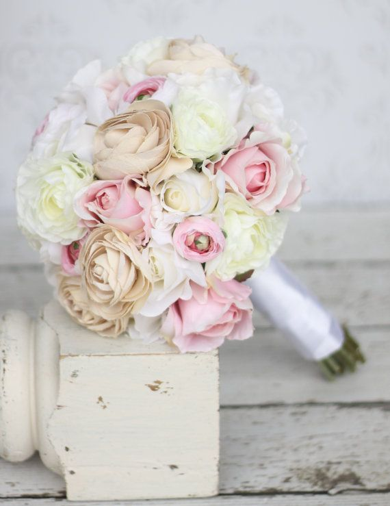 Hey, I found this really awesome Etsy listing at https://www.etsy.com/listing/101611064/silk-bride-bouquet-shabby-chic-vintage