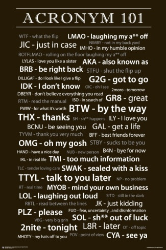 What happened to the vowels? Today we are challenged with texting.  Acronyms are words that do not contain many vowels but the vowels are the most important.A Accountable E energy I Inspired O Ownership U Understanding sometimes Y   ALWAYS Why!   #SMS #dailyenglish