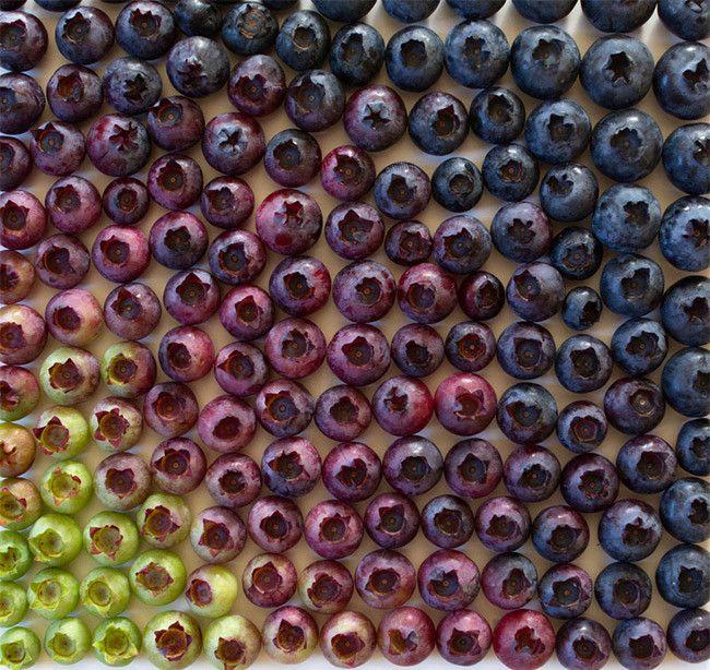 El arte de Brittany Wright, degradados de color con alimentos