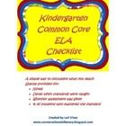This Kindergarten CCSS ELA checklist helps you document what standards that you have taught.  It has spaces provided for notes, dates that standard...