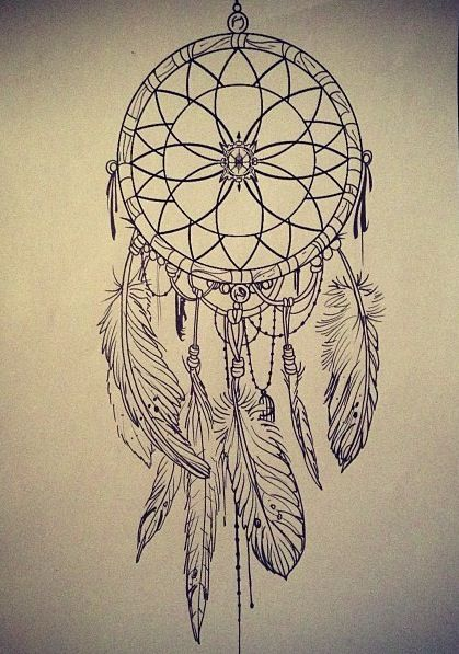 dreamcatcher tattoo- like the design in this one.