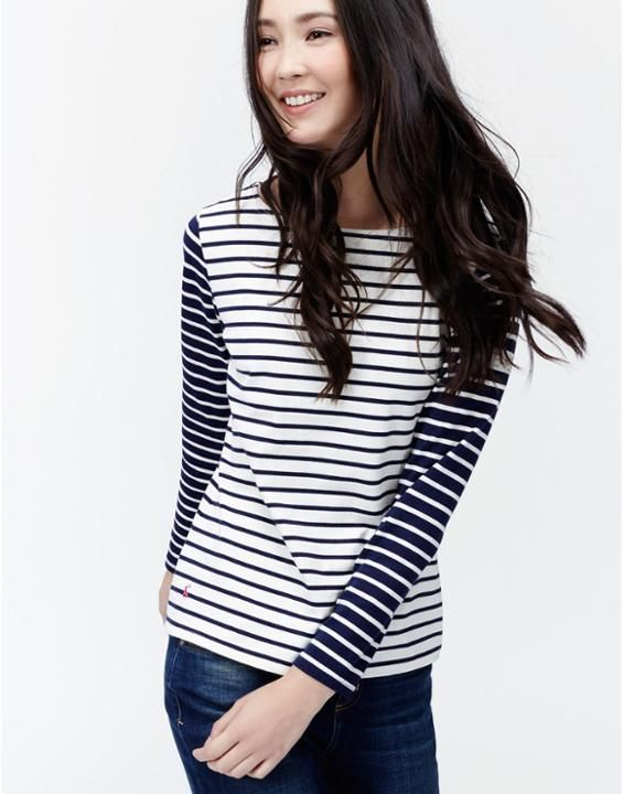 HARBOUR Womens Striped Jersey Top