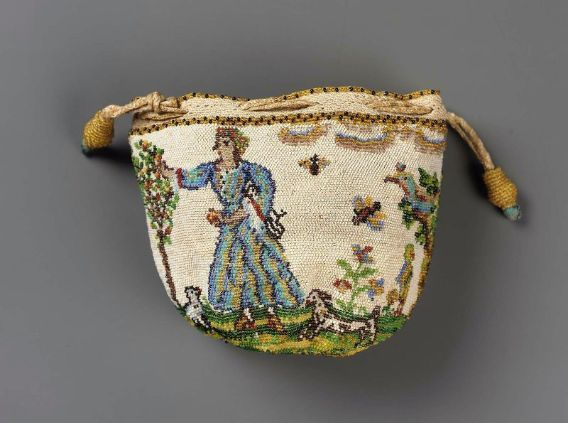 Drawstring bag French ca. 1700-1725