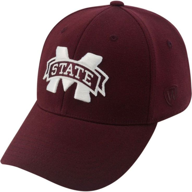 Top of the World Men's Mississippi State Bulldogs Maroon Premium Collection M-Fit Hat, Size: Medium/Large, Team