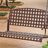 Found it at Wayfair - Santa Fe Iron Outdoor Porch Swing $199.99