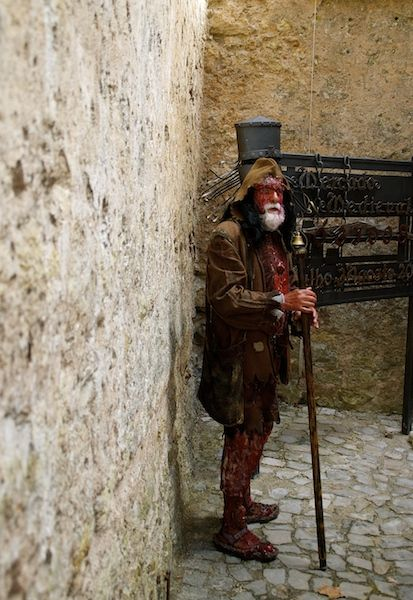 A character from Medieval times