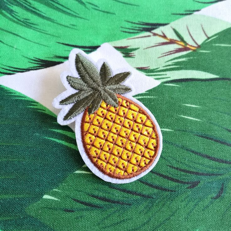 Tropical Fruit | Pineapple | Pineapple Pins | Embroidered Brooches | Brooches that looks cool