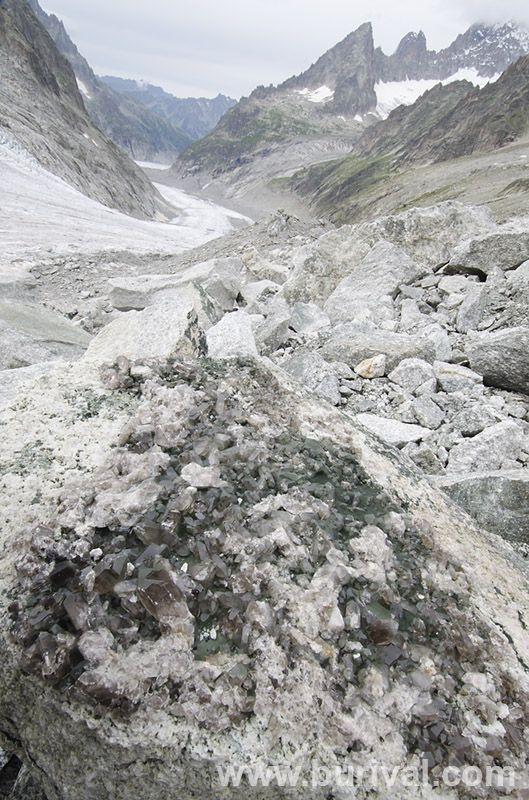The Alps have some really awesome crystal pockets. But finding them requires quite a lot of hiking and climbing.