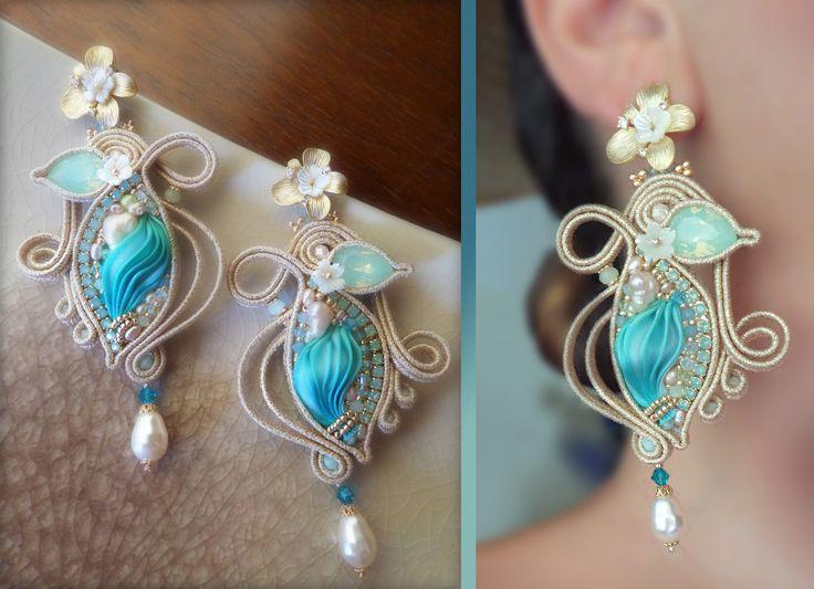Shibori silk, soutache. Designed by Serena Di Mercione