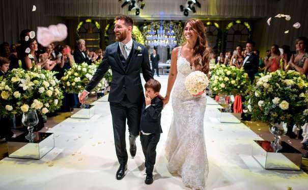 Lionel Messi y Antonela Roccuzzo ya son marido y mujer -