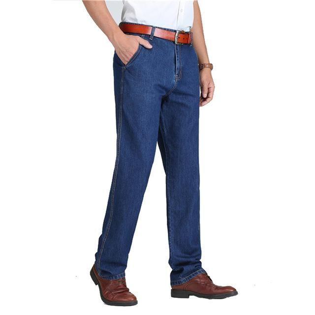 TIGER CASTLE Spring Summer Men Jeans Slight Classic Denim Pants Male Washed Baggy Blue Designer Jeans Man Casual Jeans for Men