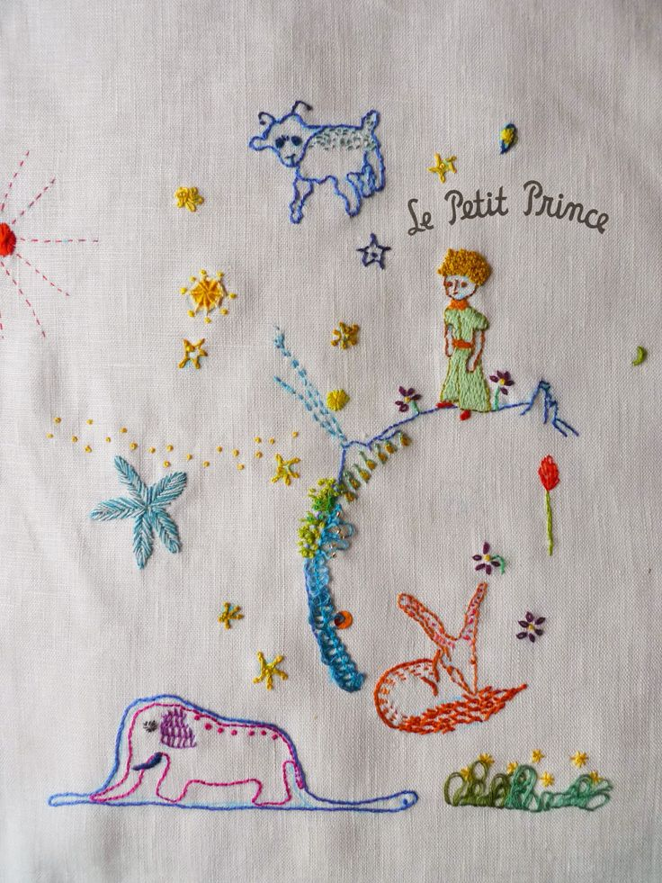 The little prince,embroidery,stitch