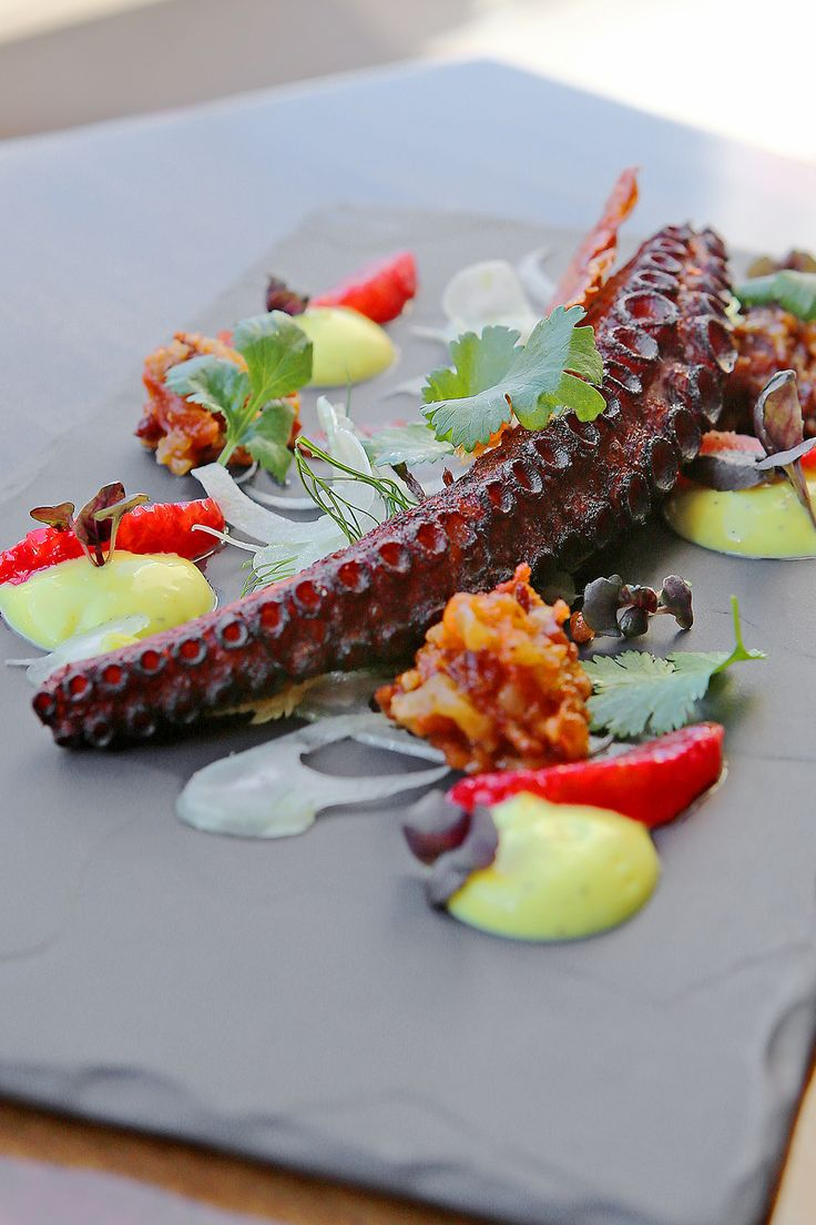 CHARRED OCTOPUS Citrus Fennel Salad, Young Celery Hearts, Saffron ...