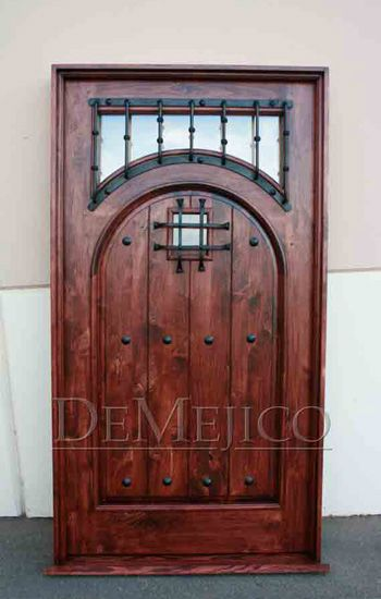 As front doors, the Puerta Espanola is a unique and custom door in our Door Catalog. With a square top frame, this door features a full arch panel design that beautifully showcases all of the natur…