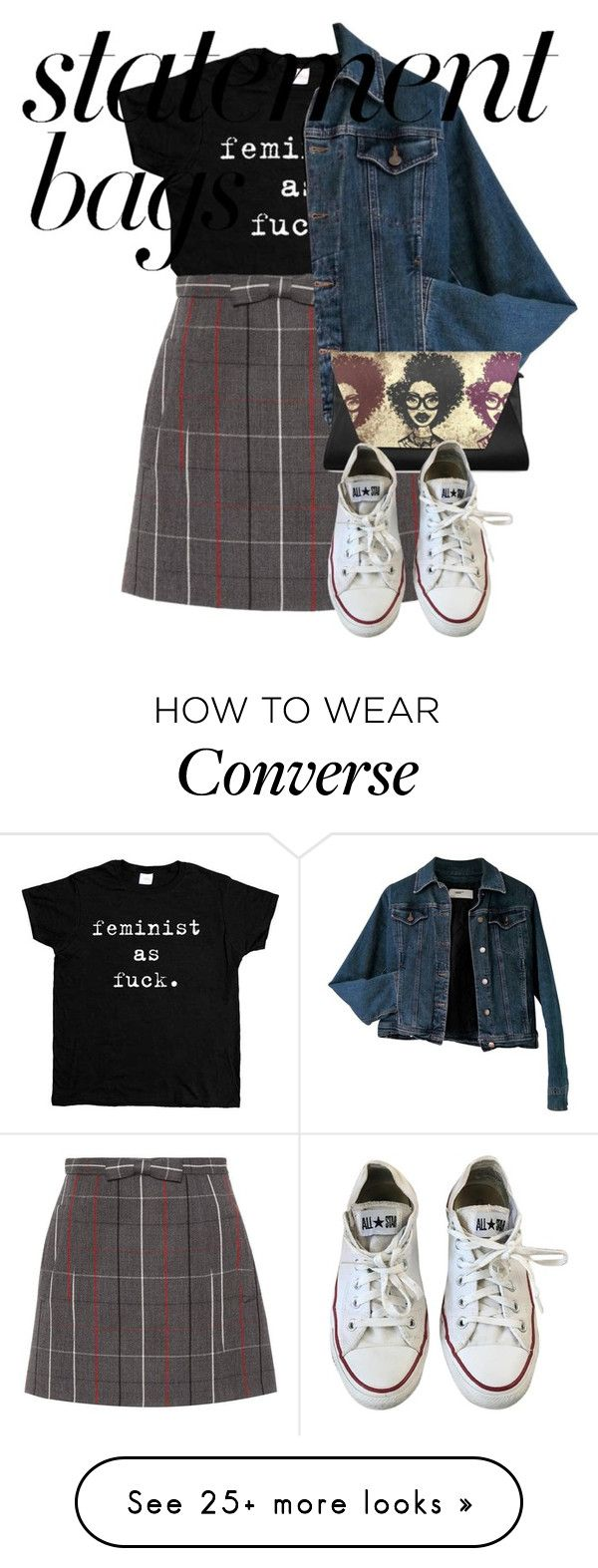"""Untitled #584"" by suityerself on Polyvore featuring Miu Miu, Moschino, Converse and statementbags"