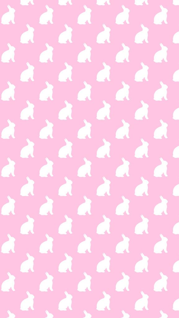 Free Easter Background. Pink Bunny iPhone Wallpaper