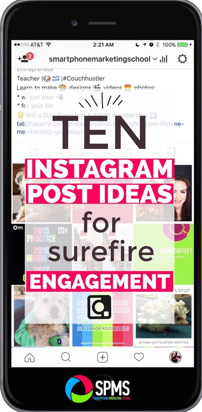 Struggling with Instagram post ideas or engagement? Try out these ten fool proof suggestions.