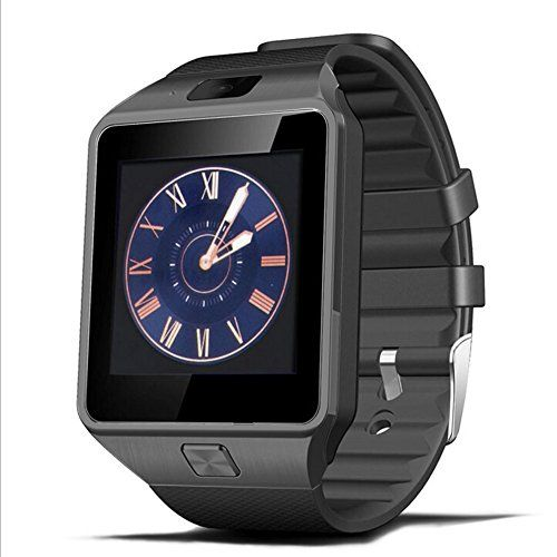 [2016 New Release] PADGENE® Bluetooth Camera Smart Watch Wrist Phone with SIM Card Slot 2.0M Camera Support Message Notification TF Card Pedometer Sleep Monitor Compatible with Android Samsung HTC Sony LG Huawei Motorola Blackberry Smartphopne (All Black) - http://www.computerlaptoprepairsyork.co.uk/new-product-releases/2016-new-release-padgene-bluetooth-camera-smart-watch-wrist-phone-with-sim-card-slot-2-0m-camera-support-message-notification-tf-card-pedometer-sleep-monitor