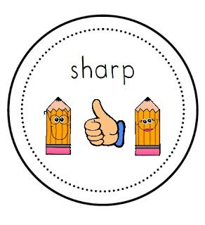 FREE Sharp/Not Sharp Pencil Labels