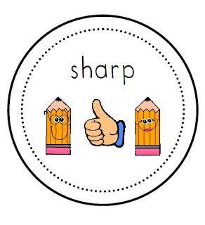 FREE Sharp/Not Sharp Pencil Labels