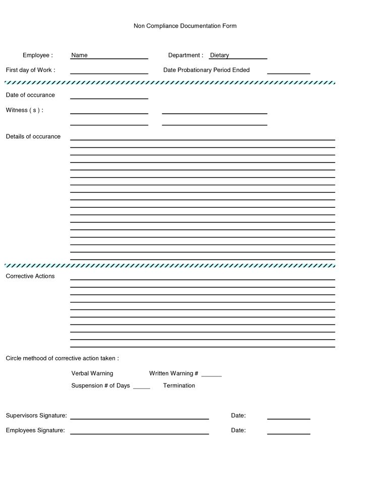 Written Warning Form | Employee Written Warning Form - Excel