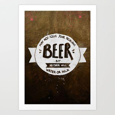 Beer Art Print by Puchu - $15.00