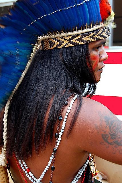 Xerente people of Brazil. by Claudia Mori, via Flickr