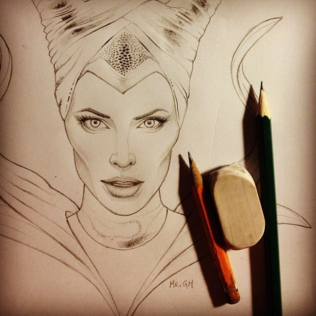 maleficent drawing