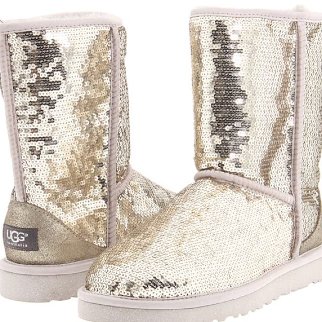 Silver Sparkle Ugg Boots.
