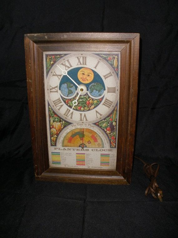 vintage planters  planters and clock on pinterest