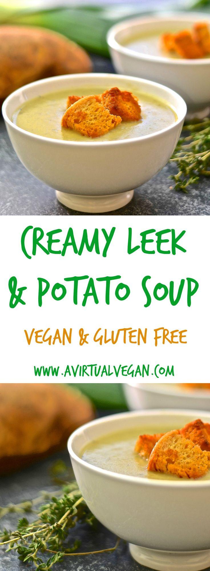 of nutmeg combine to make this unbelievably creamy Leek & Potato Soup ...