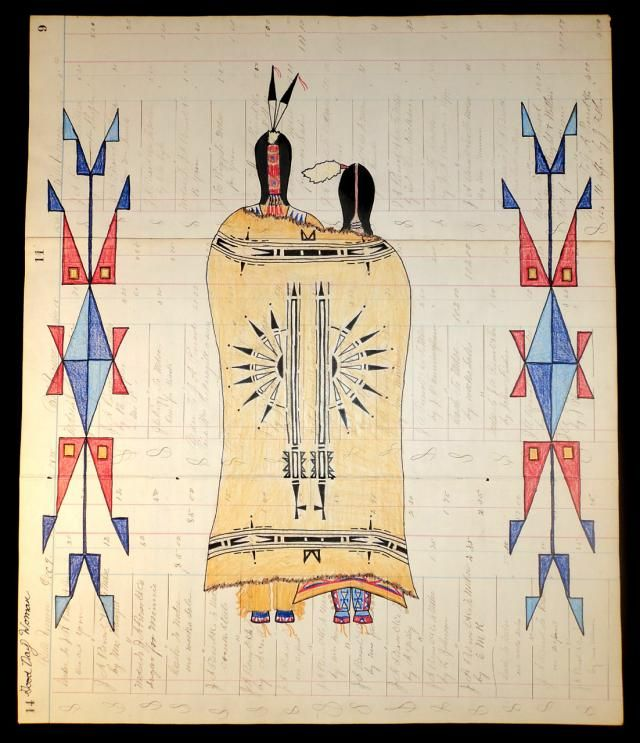 """Hidatsa Wedding"" 18 1/2 x 15 1/2   Lauren Good Day Giago, Native American Artist  #nativeamerican"