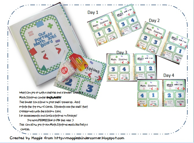 Eureka! Problem solved! Portable Math Jobs Binder! : Kindergarten ELA and Math Ideas : Pinterest ...