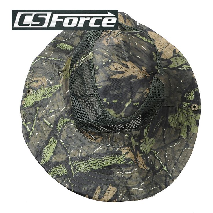 CS Force Unisex Cap Sniper Bucket Hats Jungle Military Camo Bonnie Hat Fishing Camping Mountaineering Sports Caps Hiking Caps
