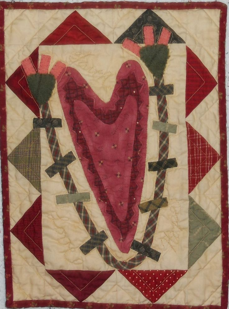 Log Cabin Quilter: Bless Your Heart and a Mini Quilt Gift