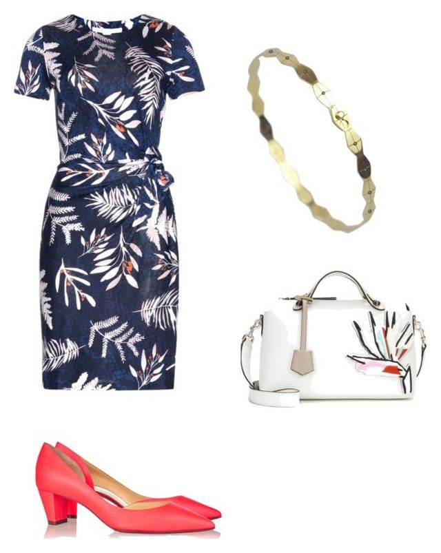 Casual friday work outfit by the925editor on Polyvore featuring Diane Von Furstenberg, Christian Louboutin and Fendi